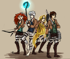 Shingeki no Big Four by LilyScribbles