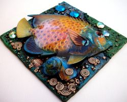 Tropical Fish Mosaic Tile 2 by MandarinMoon