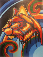 Cat (Acrylic) by TheMoonfall