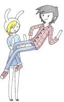 Marshall Lee and Fionna by HaruBells
