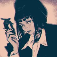 Mia Wallace sketch by KR0NPR1NZ