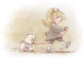 Walking dog by Tiramizsu