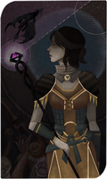 Dragon Age Tarot - Ace of Wands by sumenya