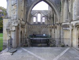 Glastonbury Abbey 46 by LadyxBoleyn