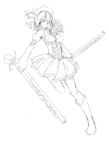 Mami Tomoe Lineart by Ryucchan