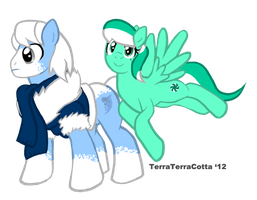 Northern Frost and Sweet Mint by TerraTerraCotta