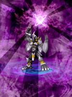 240x320 BlackWargreymon by rockingenton