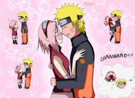 Cute Narusaku by joy1003