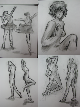 Pose sketches by Lady-Fukou