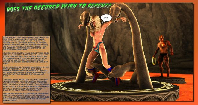 Ultra Woman in the Labyrinth - Perdition Page 3/6 by DesertLion3D