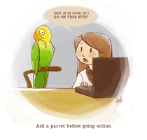 Ask a Parrot by rollingrabbit