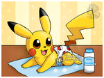 Baby Pikachu's diaper change - Part 2 by Veemonsito