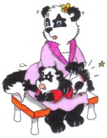 Spanking pic two mommies turn by Pandafox1213