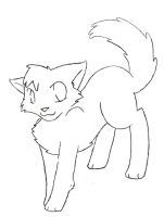 Free Cat LineArt by ThrushFeather