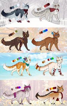 - Season themed feline adopts (Open) - by Mythic-Flame