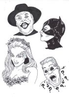 Batman Film Villains! by Comicbookguy54321