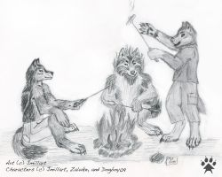 Campfire Party by jmillart