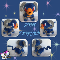 Minky Shiny Houndoom Sold! by Ami-Plushies