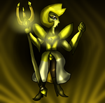 The Great Yellow Diamond and her Weapon by Pokechan13