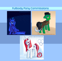 Fullbody Pony IRL Commission Set 2 by pekou