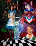 American McGee's Alice_oil pastel by IZZY-CHAN13