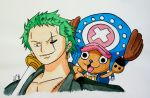 ::OldDraw:: Zoro and Chopper by Seyrei