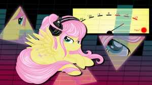 Dj Fluttershy Wallpaper by murknl