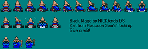 Black Mage in Super Mario Kart by CyberMaroon