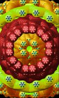 Golden Red Mandala by Inorbitcadet