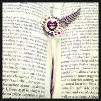 Wings and gears pendant by SprinkleChick