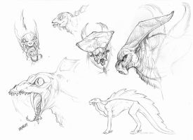 Creature Sketches by BloodhoundOmega