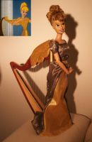 disney singing harp ooak by lulemee