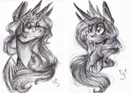 Traditional Thursday - Crosshatched Sisters by Giumbreon4ever