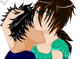Neck Kissey :3 by iAmTheForcex3