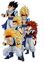 Gogeta Jr Normal-SSJ4 by SpongeBoss