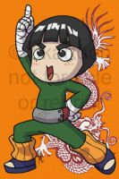 "Rock Lee doing the ""pose"" by dkartoon"
