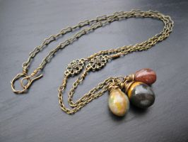 Indian Agate Necklace by AtlantisAK-Jewelry
