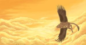 Griffin in Flight by Atan