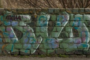 Graffiti wall by steppelandstock