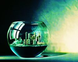 City in a Fishbowl Wallpaper by Senovan