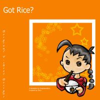 Got Rice: T-shirt Design by Jingmamalulu