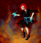 Walking on flames by Ice-LuoXue