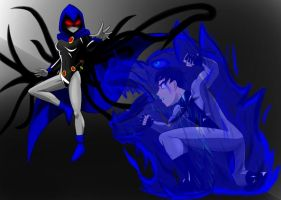 Raven vs Wiccan (Request) by Razgriz23