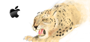 Snow Leopard by CoffeeStainedStudio