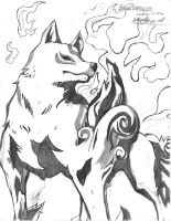 Amaterasu MVC 3 Drawing by Hotfeet444