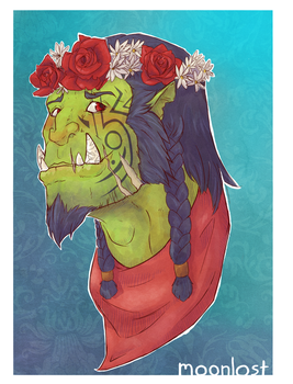 Dork of an Orc by MoonlostArts