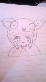 Random Chibi Girl - First Art Submission by Dragon4942