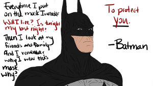 The Dark Knight - Colored by Chibi-Aeri-Chan