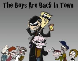 The Boys Are Back In Town by Piddies0709