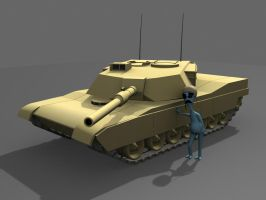 M1A1 Abrams and Sven by StoneKeeper